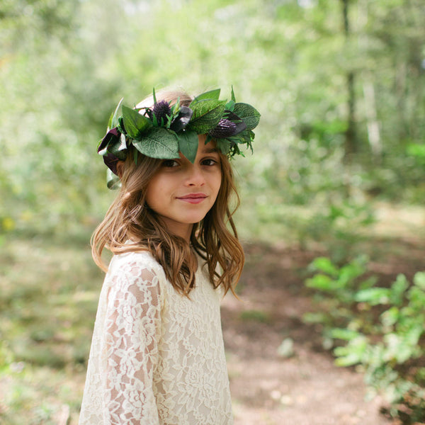 Thistle flower crown