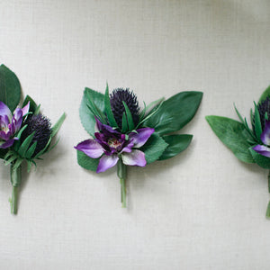 Ultra Violet boutonniere