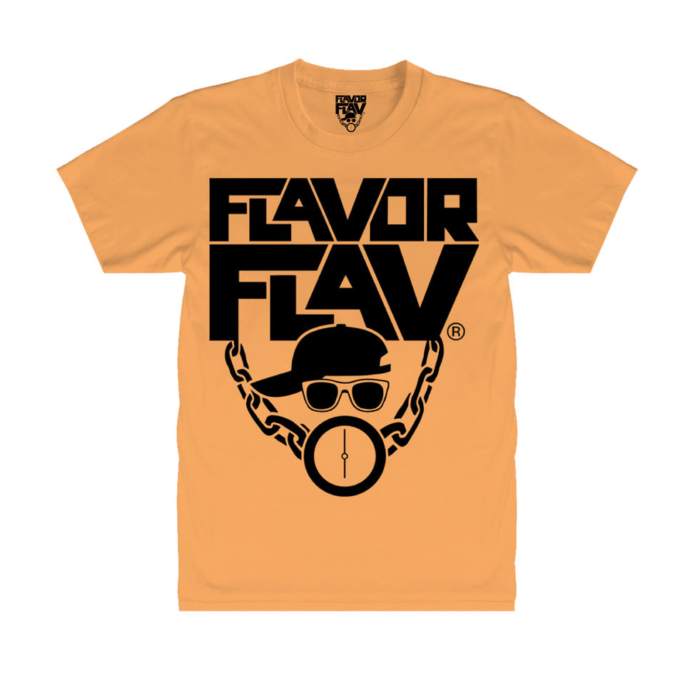 T-Shirt Neon Orange - Flavor Flav