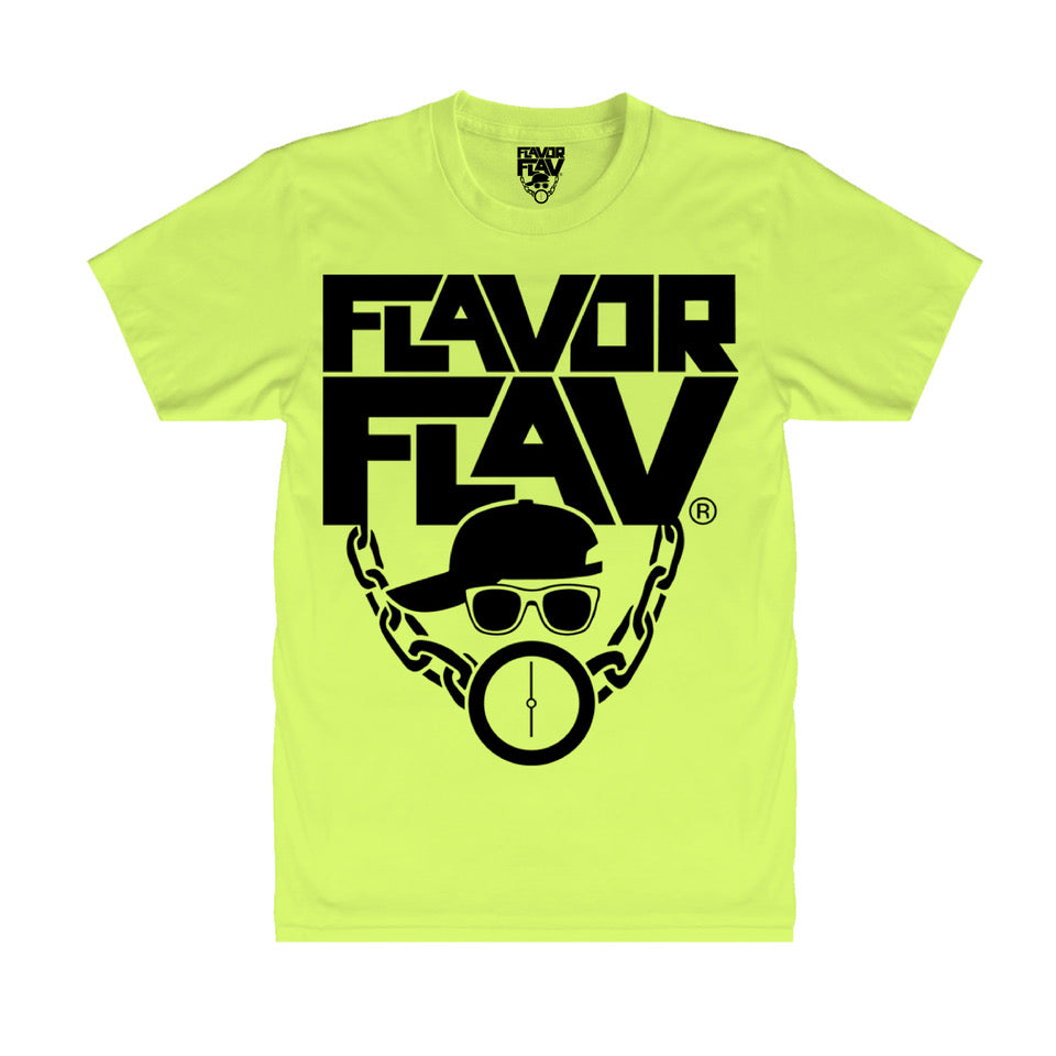 T-Shirt Neon Yellow - Flavor Flav