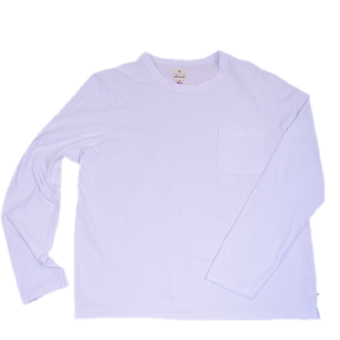 Allview Americana LS Heavyweight Tee White