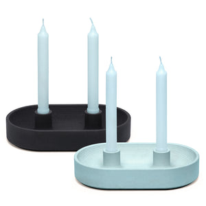 Nystrom Goods Runda Double Candle Holder Grey