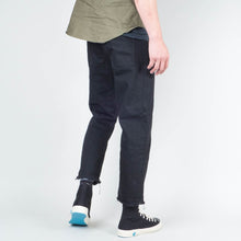 Load image into Gallery viewer, Coast Denim - Flood Pant Raw Hem Washed Black