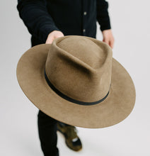 Load image into Gallery viewer, Marshall Goods x Zito Hat Co. Exclusive || Handmade Tear Drop Fedora || Pecan - Marshall Goods
