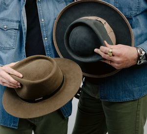 Marshall Goods x Zito Hat Co. Exclusive || Handmade Tear Drop Fedora || Pecan - Marshall Goods