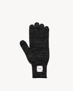 Upstate Stock Black Melange Ragg Wool Full Gloves