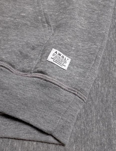 Away Without Leave Hoodie Mock Twist Grey - Marshall Goods