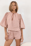 The Saint Blouse - Bellini Check