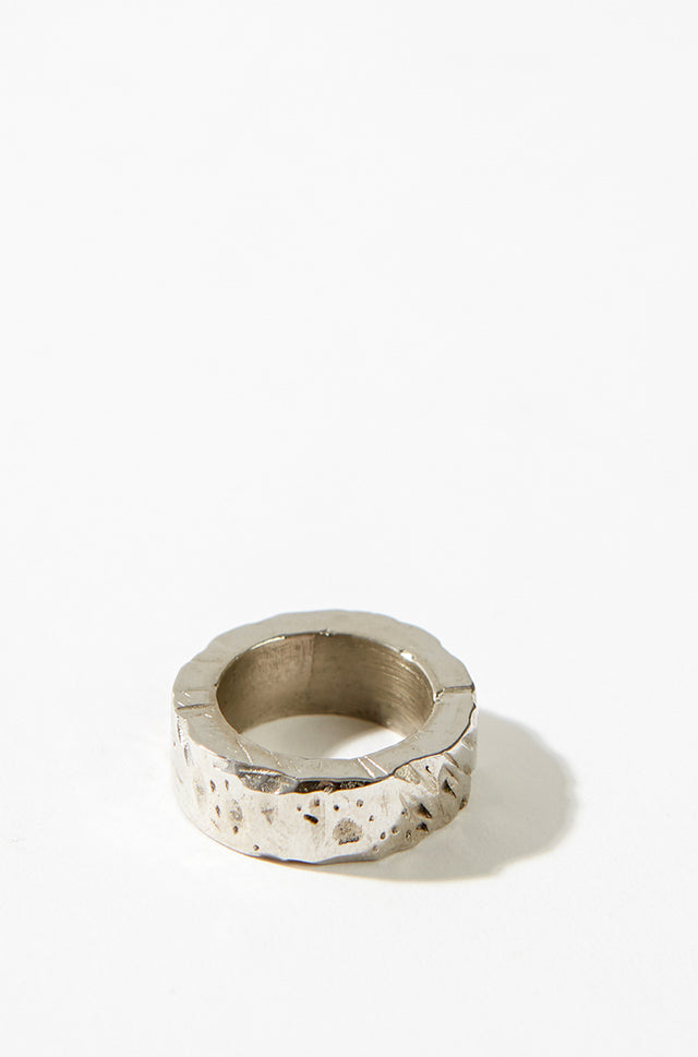 Chunky ring, white mat rhodium, Margherita Potenza - SWIM XYZ