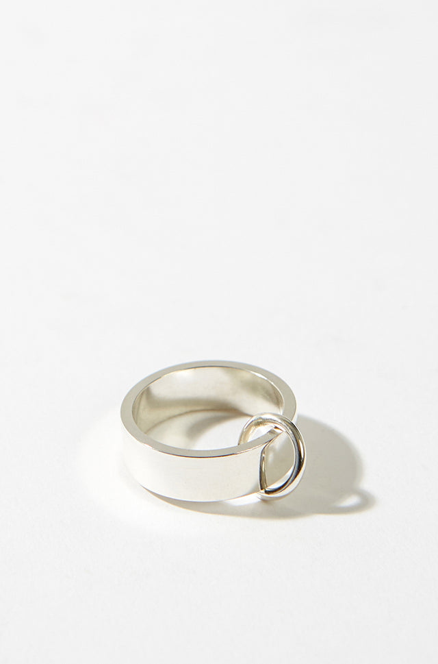 Silver Ring With Small Ring, CC Steding - SWIM XYZ