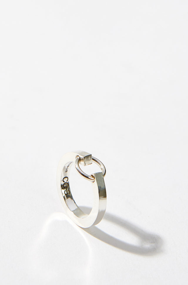 Sterling Silver Ring With Small Ring Attached, CC Steding - SWIM XYZ