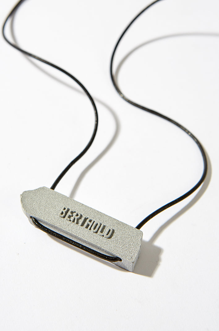 3D Printed Necklace - Grey, BERTHOLD - SWIM XYZ