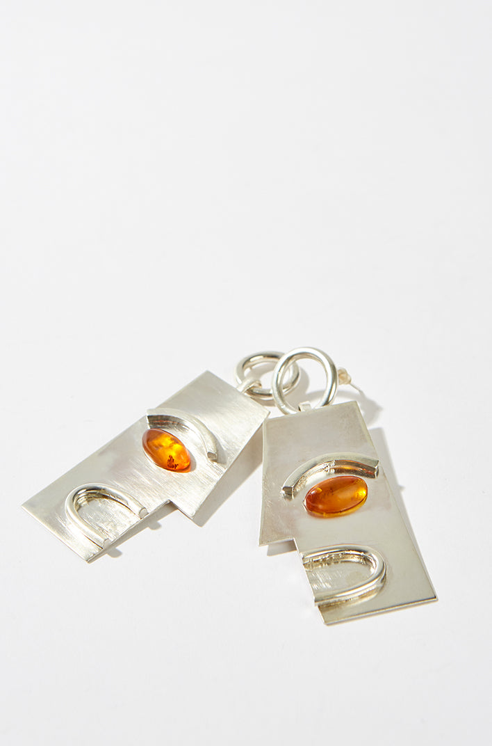 Sterling Silver and Amber earrings, Gala Colivet-Dennison - SWIM XYZ