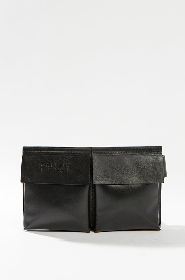Leather Waist Bag - black, Caitlin Price - SWIM XYZ