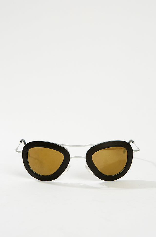 Aviator Sunglasses - Black, HAAL - SWIM XYZ