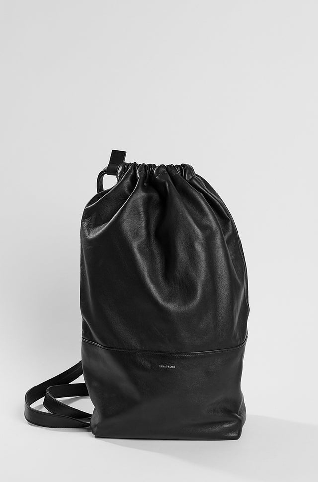 Black Lambskin Duffle Backpack, Xenab Lone - SWIM XYZ