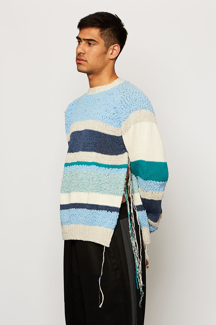 MULTI-TEXTURE JUMPER, Ka wa key - SWIM XYZ