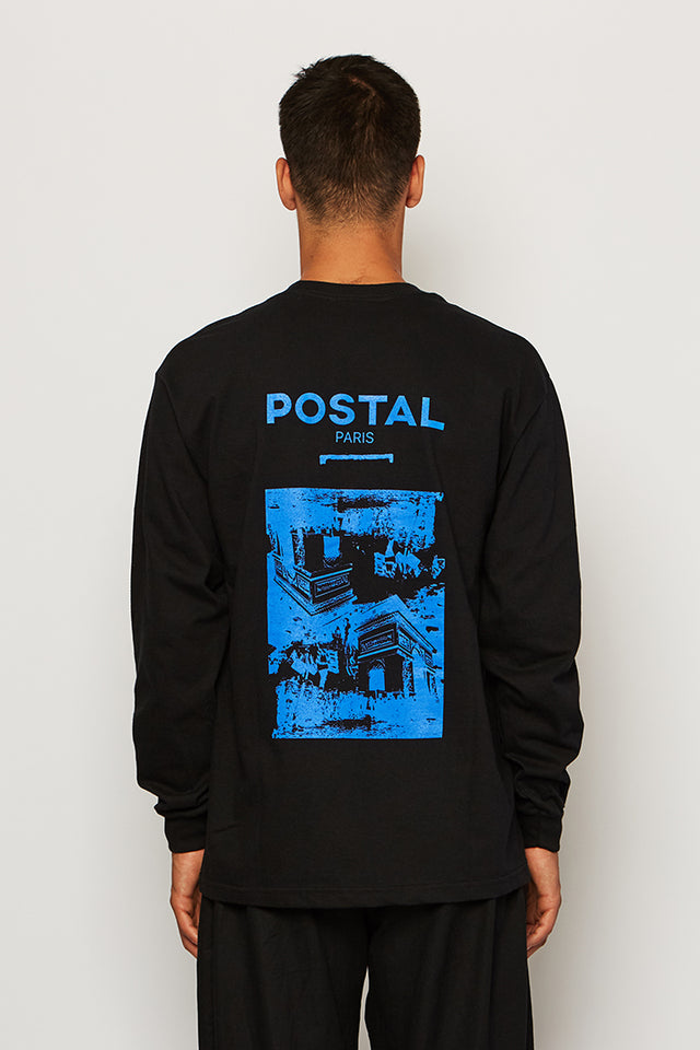 PARIS CITY RIOTS LS TEE, Postal - SWIM XYZ