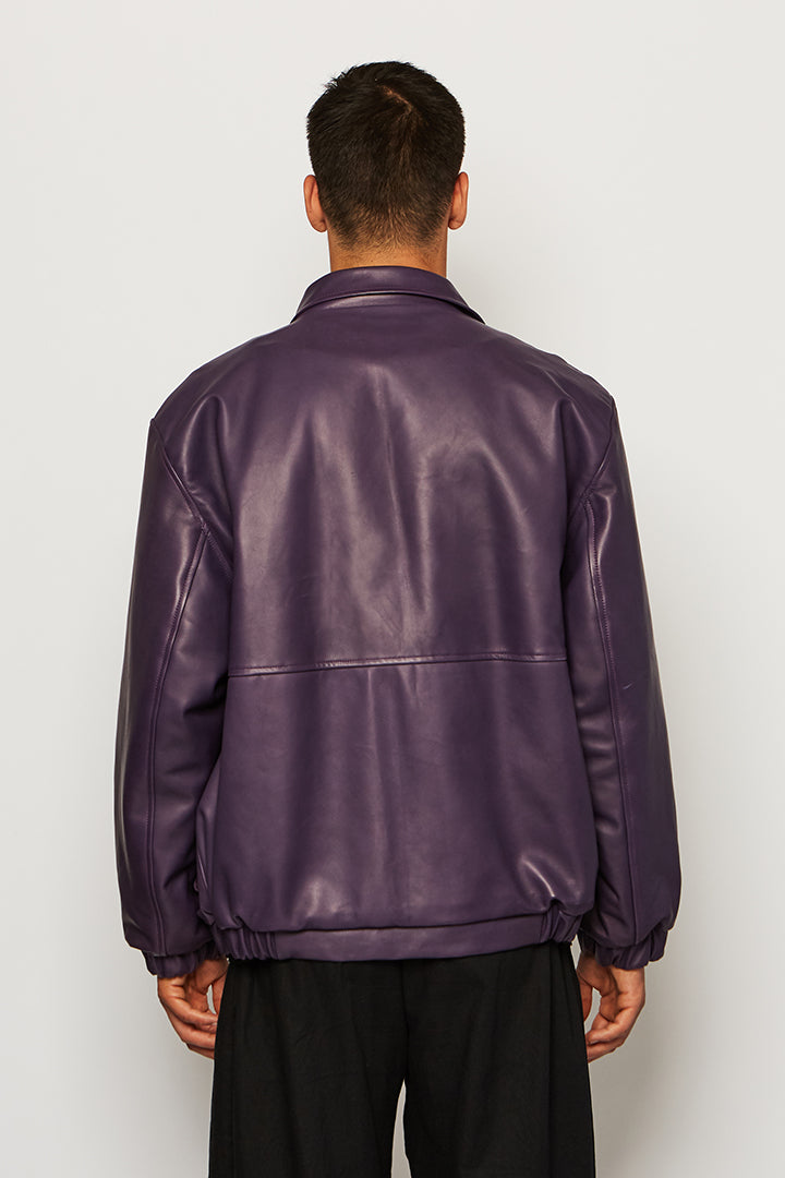 Leather Worker Jacket, Oozee - SWIM XYZ