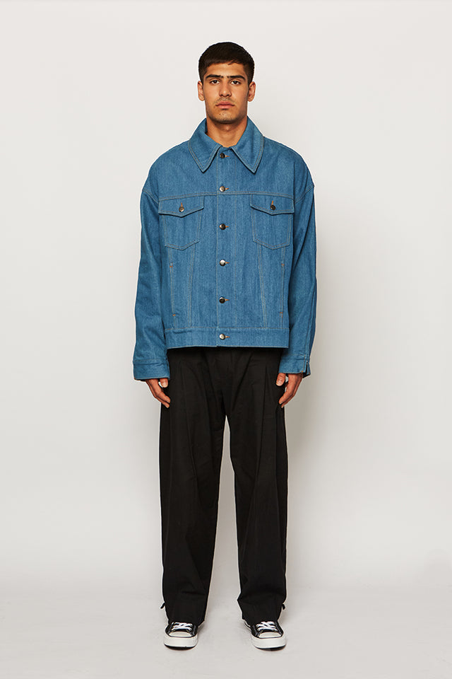 DECONSTRUCTABLE DENIM JACKET, Ka wa key - SWIM XYZ