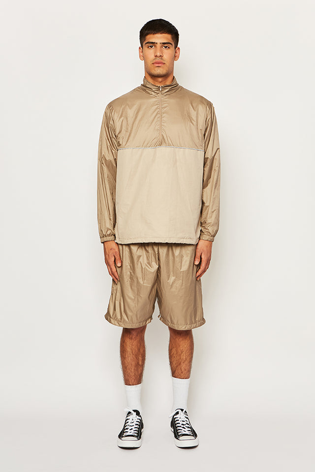 Two tone Q-zip/shorts tracksuit