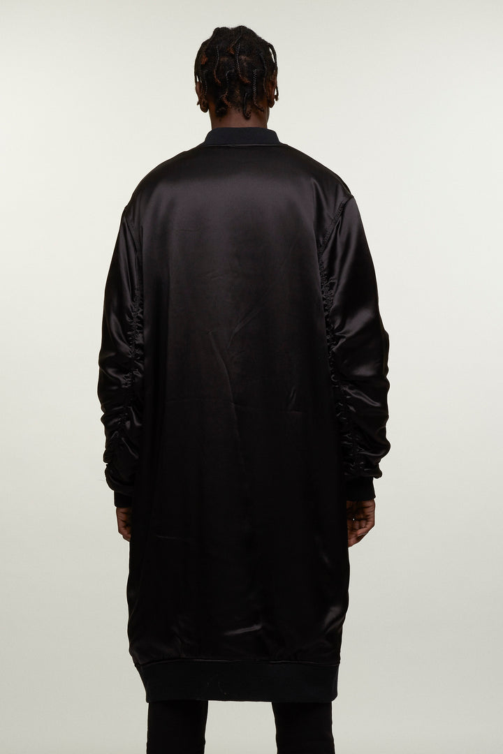 Long Silk Bomber Jacket, Michiko Koshino - SWIM XYZ
