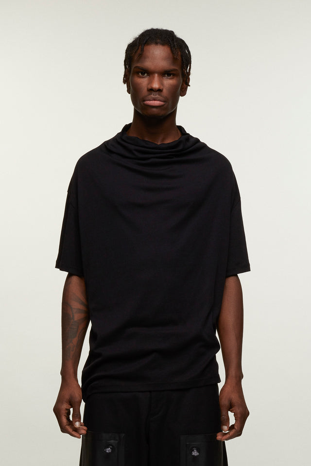 High Neck T-shirt - Black, BERTHOLD - SWIM XYZ