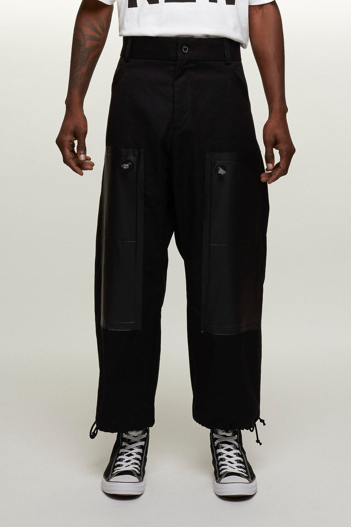 Trousers Inflatable PVC pockets - Black, Michiko Koshino - SWIM XYZ