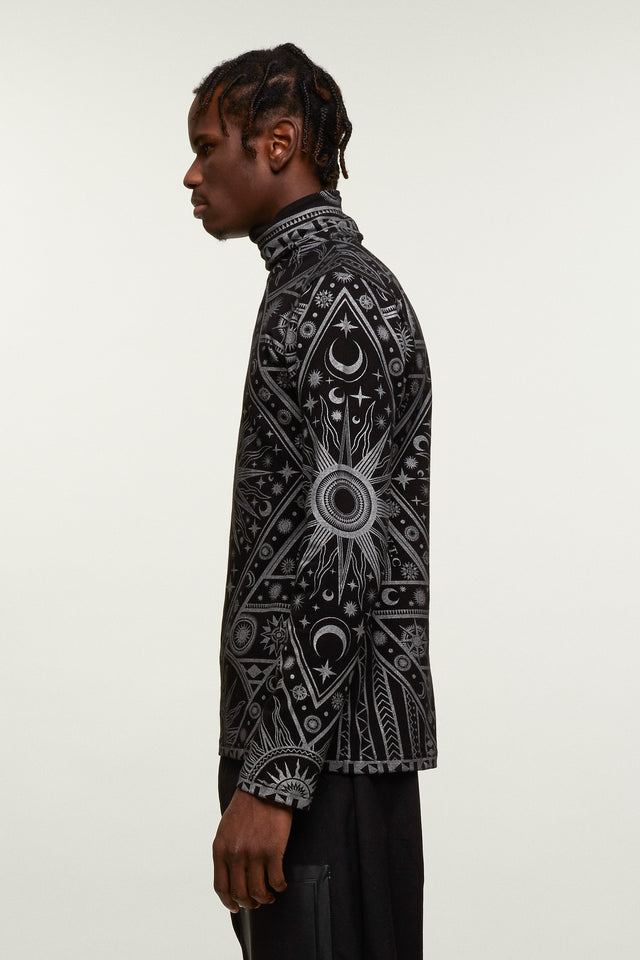 Zodiac Print Long Sleeve Top, KTZ - SWIM XYZ