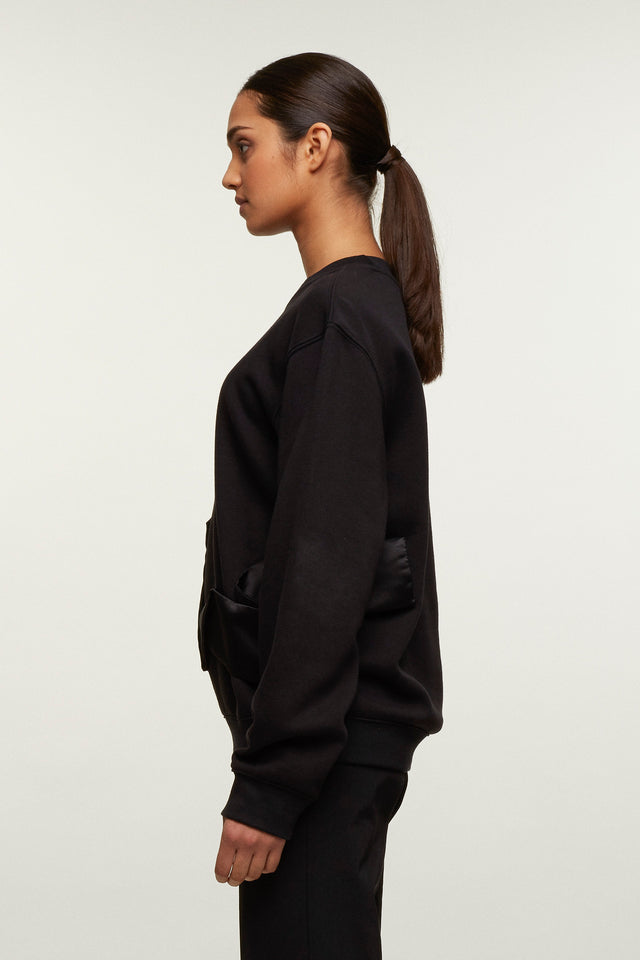 Ribbon Crew Neck Sweatshirt, Caitlin Price - SWIM XYZ