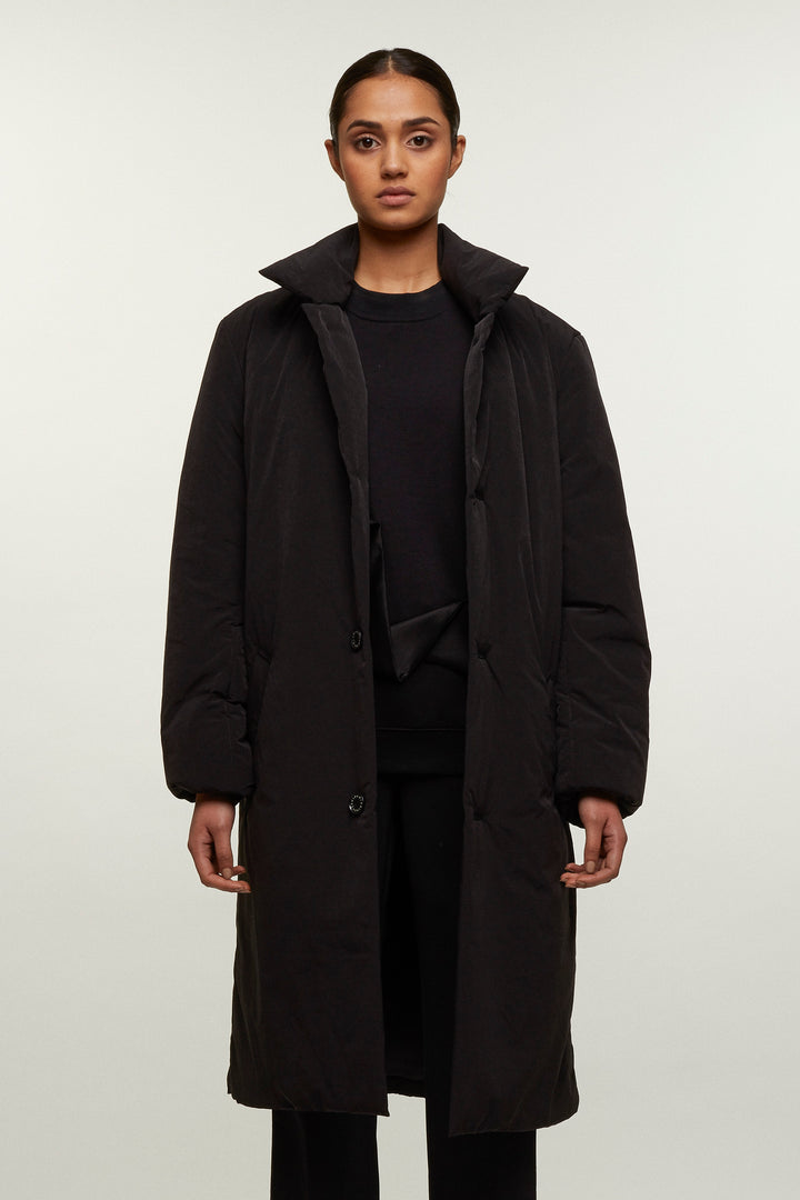 Padded Long Overcoat, Michiko Koshino - SWIM XYZ