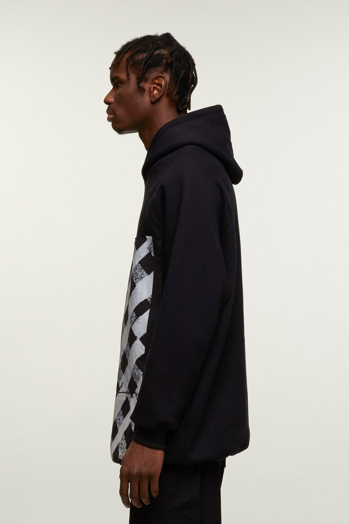 Checkered Graphic Hoodie, Liam Hodges - SWIM XYZ