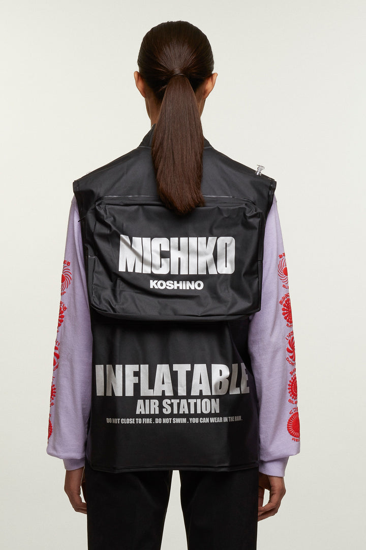 Inflatable PVC Vest, Michiko Koshino - SWIM XYZ