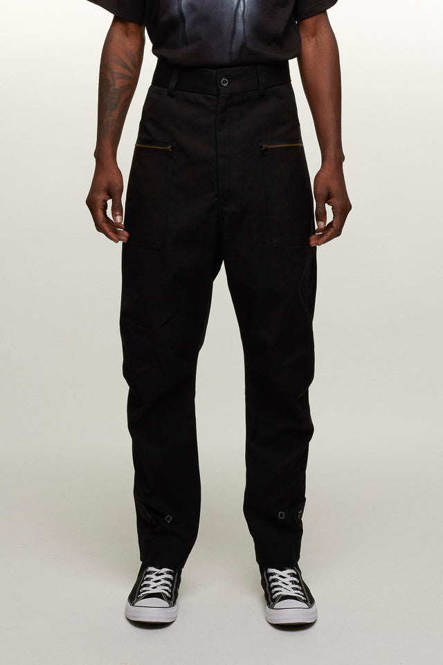 Luxury Canvas Combat trousers