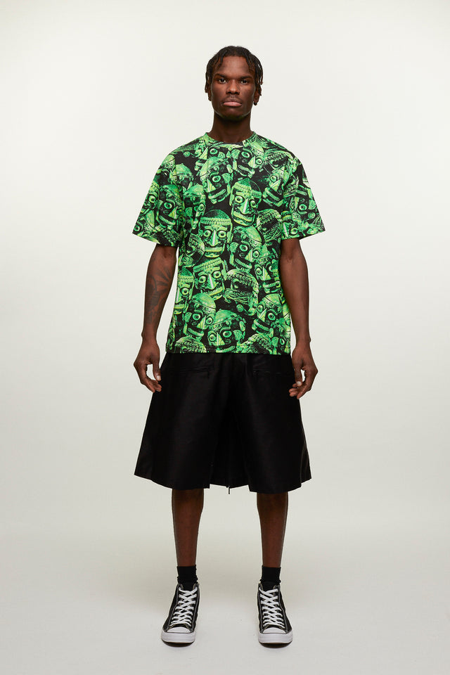 Skull Print T-Shirt - Green / Black, KTZ - SWIM XYZ