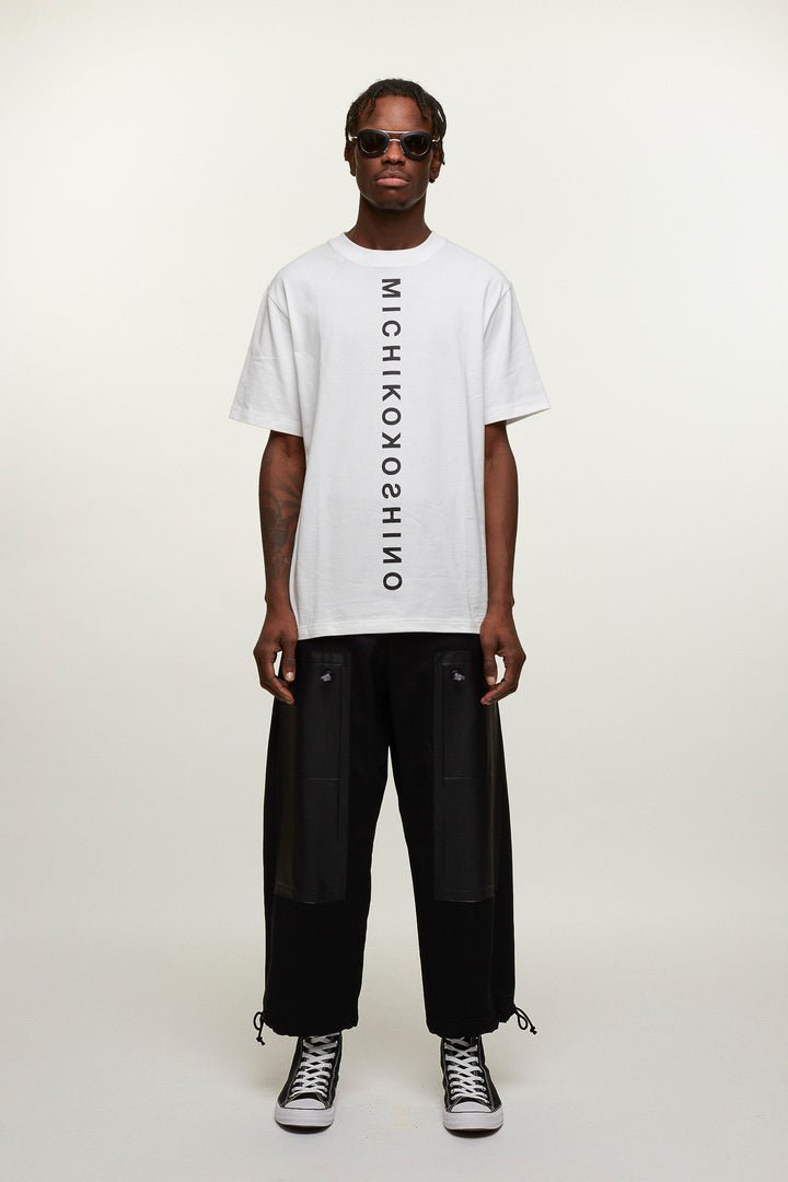 Logo T-shirt Vertical - White, Michiko Koshino - SWIM XYZ