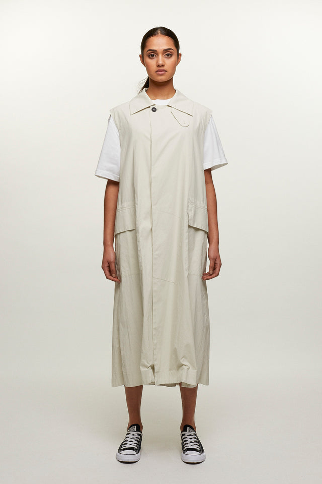 Sleeveless Trench Coat, BERTHOLD - SWIM XYZ