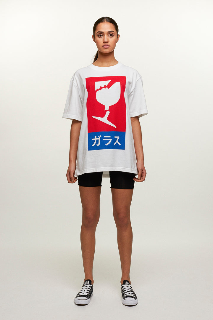 T-Shirt Fragile - Red Print, Michiko Koshino - SWIM XYZ