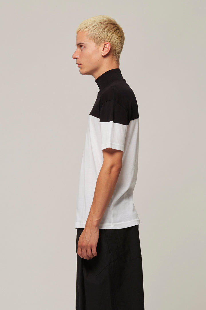 Two Colour High Neck T-Shirt, BERTHOLD - SWIM XYZ
