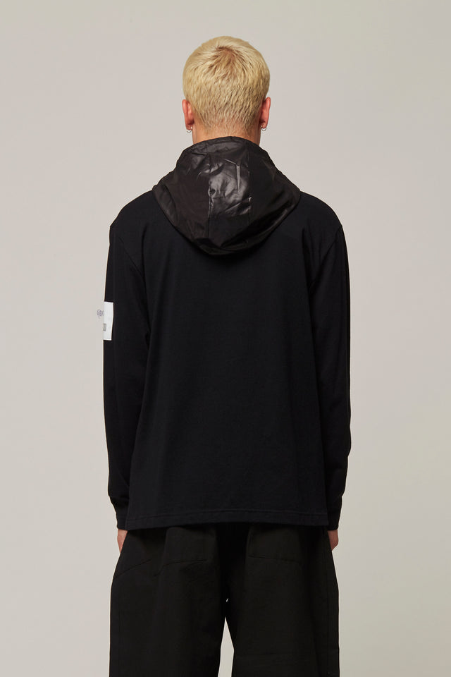 Long sleeve Hooded T-Shirt, Michiko Koshino - SWIM XYZ