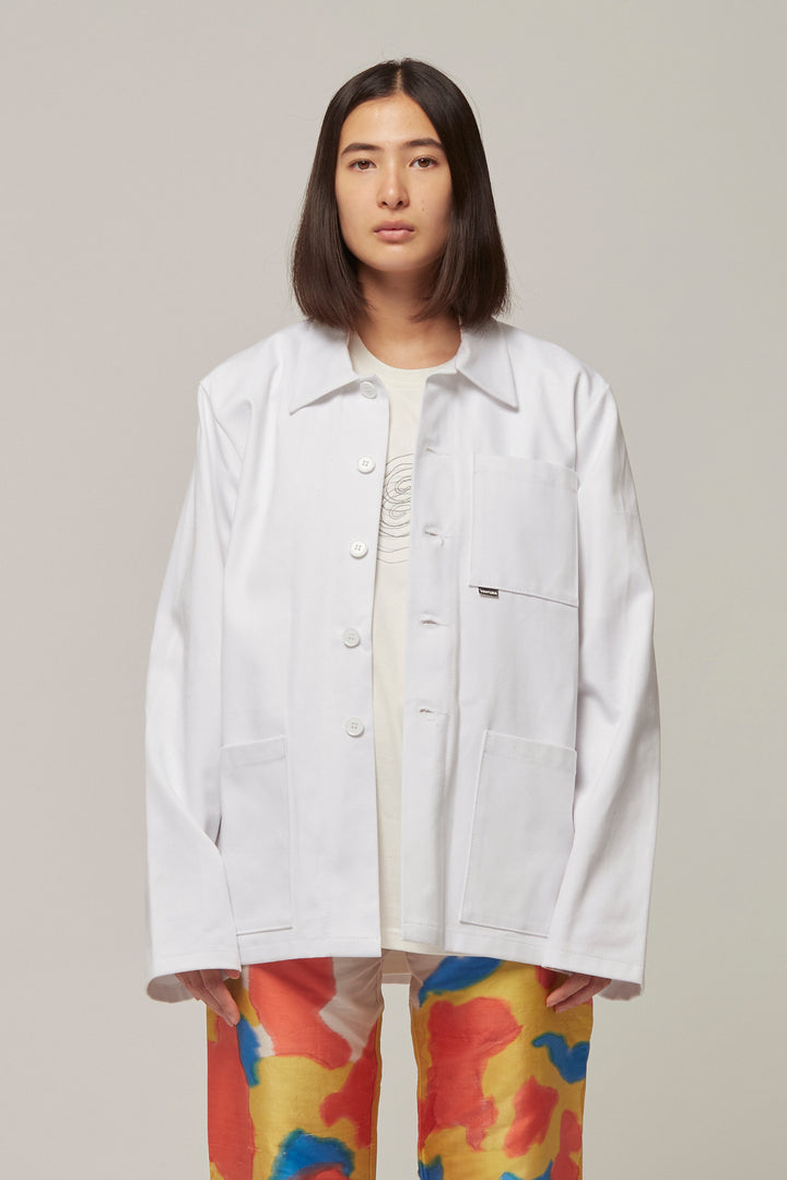 White Workwear Jacket