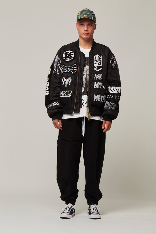 All Over Patch Bomber Jacket, KTZ - SWIM XYZ