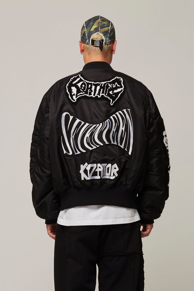 All Over Patch Bomber Jacket