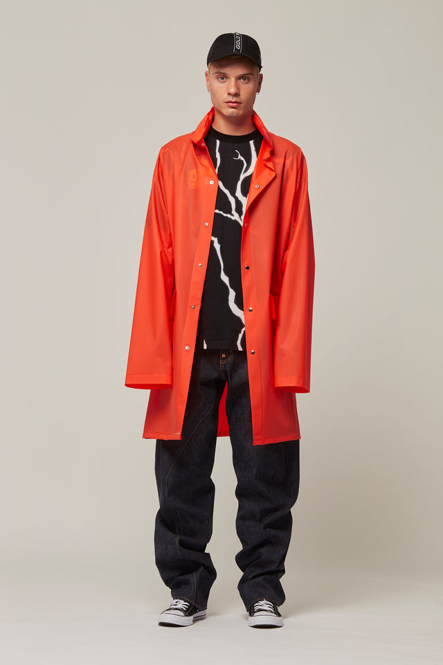 PVC Rain Mac With Logo, Michiko Koshino - SWIM XYZ