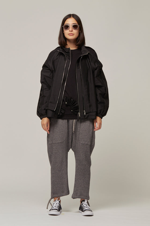 Pleated Open Seam Jacket