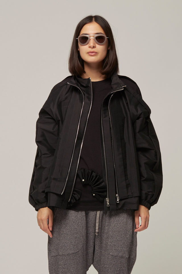 Pleated Open Seam Jacket, Caitlin Price - SWIM XYZ