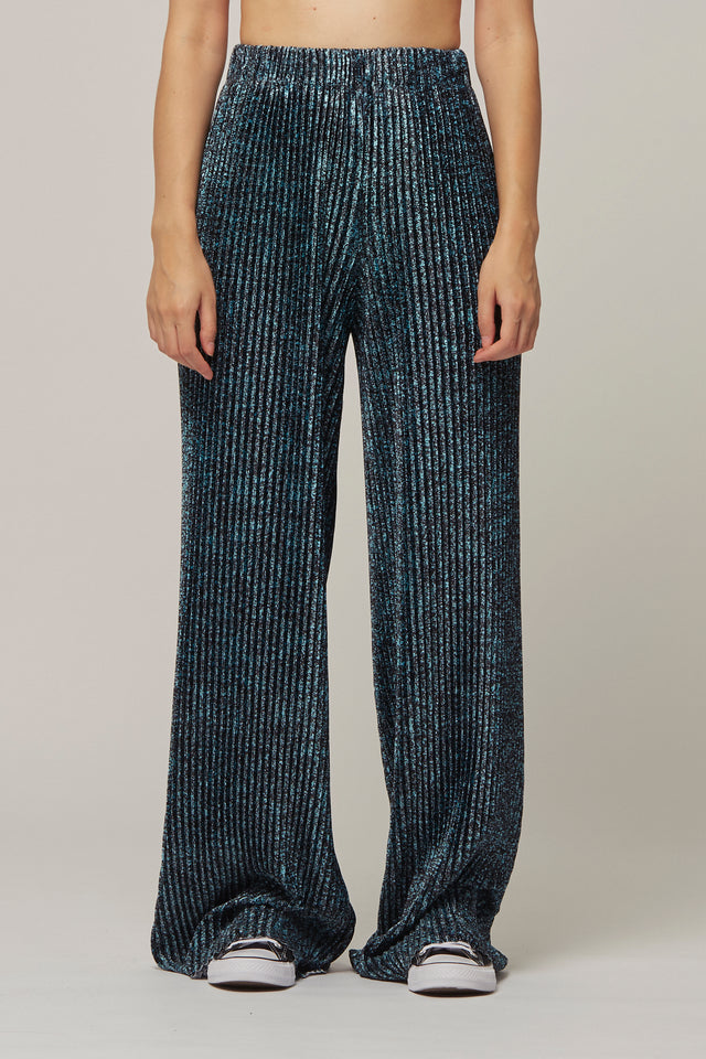 Speckle Print Pleat Trousers
