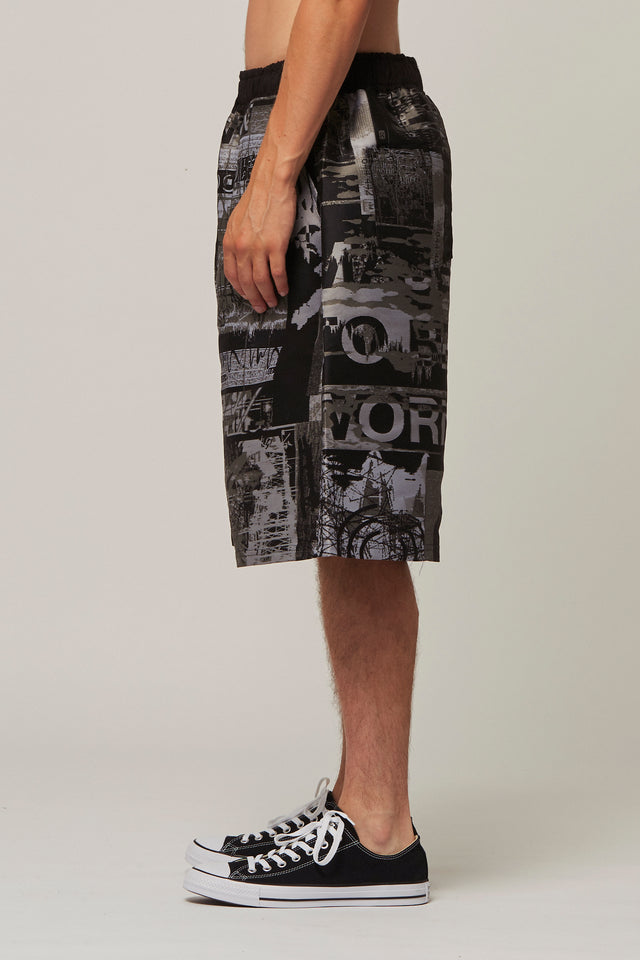 Jacquard Embroidery Shorts, Liam Hodges - SWIM XYZ