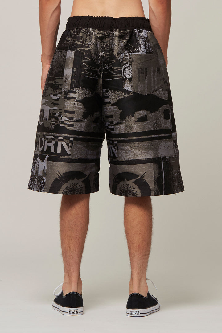 Jacquard Embroidery Shorts