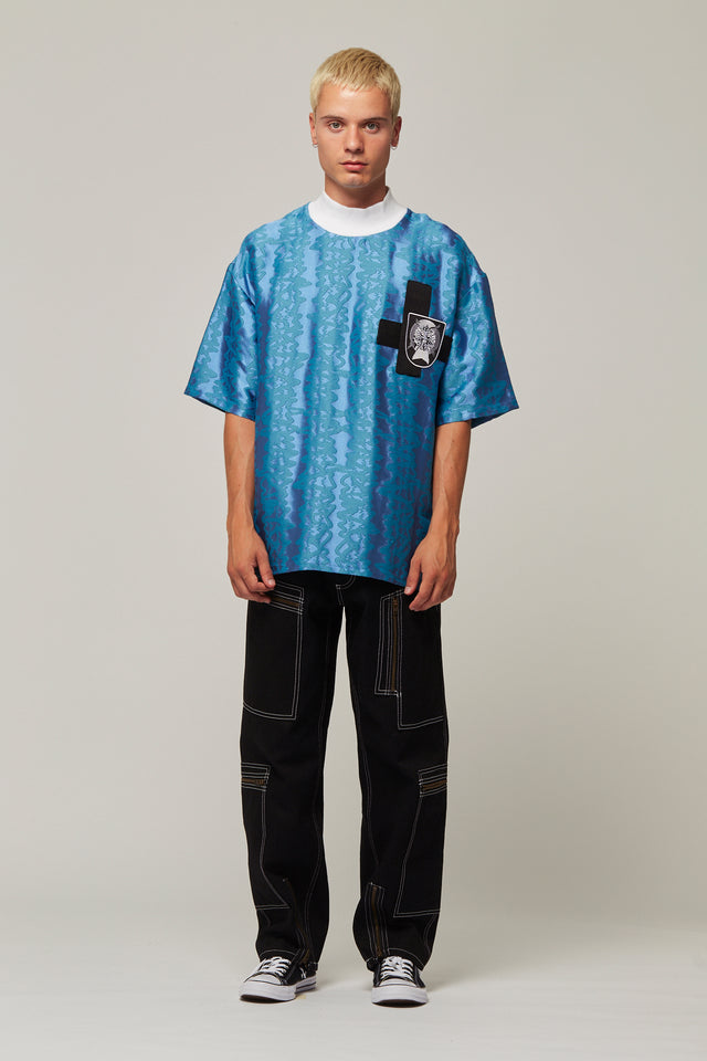Jacquard Football T-Shirt, Liam Hodges - SWIM XYZ